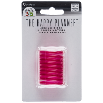Translucent Pink The Happy Planner Medium Discs